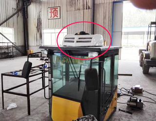 E-Clima1200 electric truck cab air conditioners installation for Special vehicles