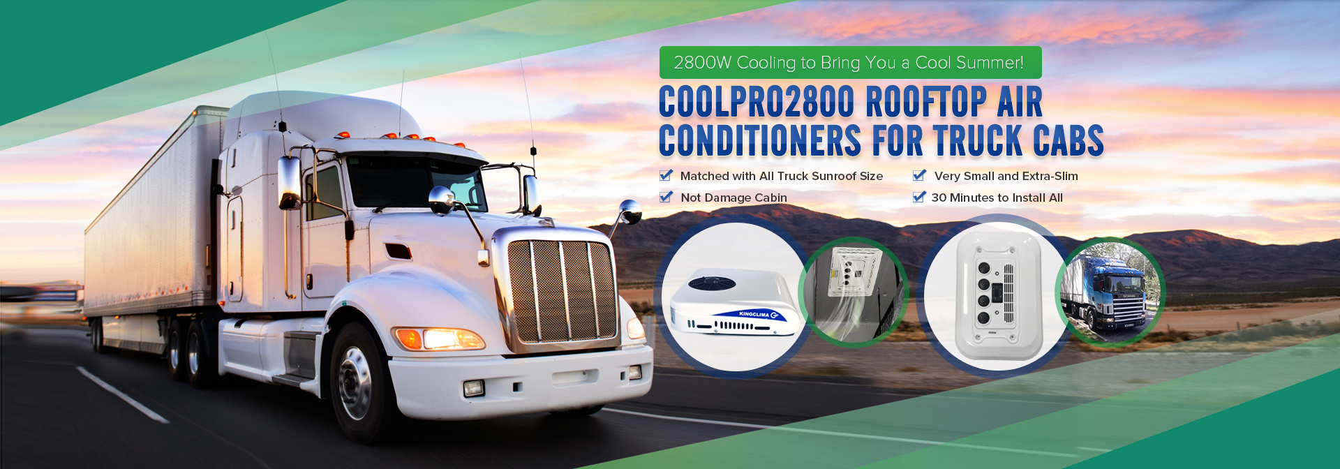 CoolPro2800 sleeper cab air conditioner