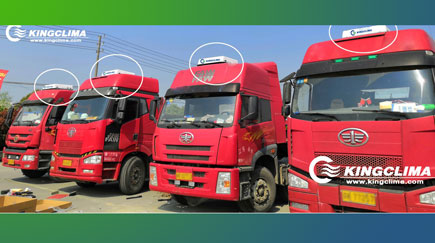CoolPro2800 Truck Sleeper Air Conditioner Install for FAW Trucks in Thailand