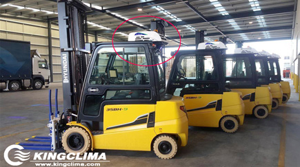 E-Clima2200 Cooling Solution for Mitsubishi Forklift Cab